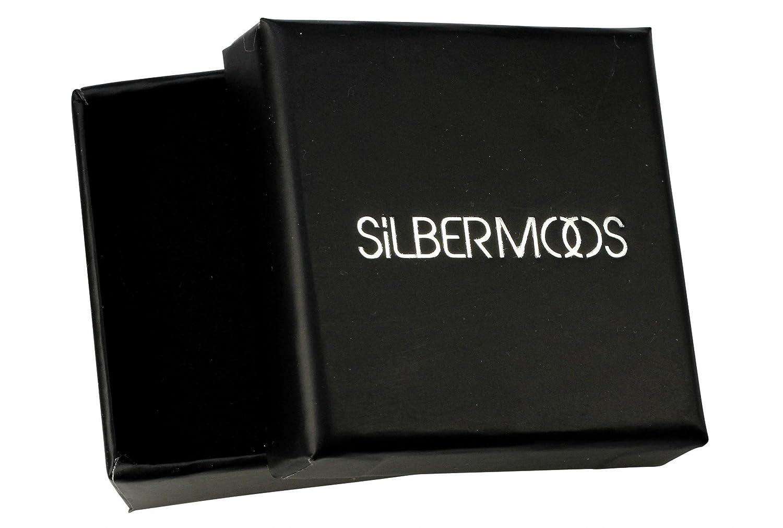 SILBERMOOS Damen Anh/änger Schale Spirale Muschel mit Perle gl/änzend 925 Sterling Silber//Kette optional