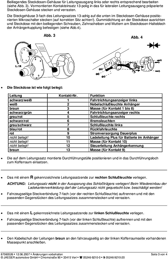 AHK Abnehmbare Anhängerkupplung 13p C2 E-Satz Ford Mondeo Wagon 01-07 14074//C/_B1