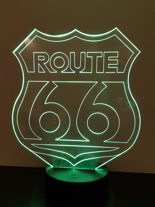 Lampe 3D Motif: Route 66
