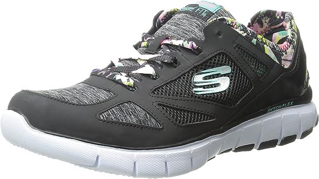 Skechers Skech-Flex-Tropical Vibes, Zapatillas de Deporte para Mujer, BKMT, 41 EU: Amazon.es: Zapatos y complementos
