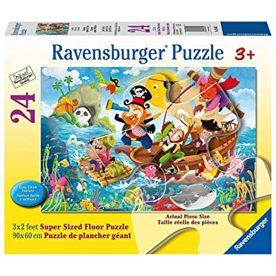 Ravensburger 03042 Land Ahoy! 24 Piece Giant Floor Puzzle for Kids (Extra-Thick Cardboard, Easy Clean Surface, 24 Pieces, 3′ × 2′, Great Gift for 3, 4, and 5 Year Old Girls and Boys): Toys & Games