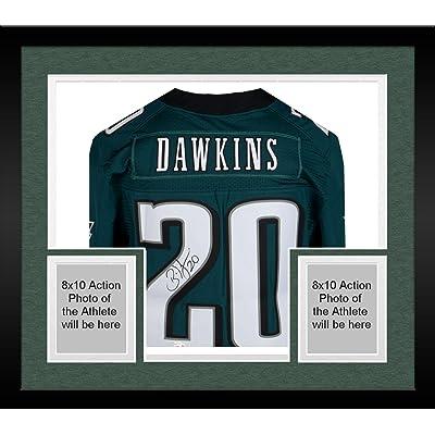 timeless design 004f4 d7164 Framed Brian Dawkins Philadelphia Eagles Autographed Green ...