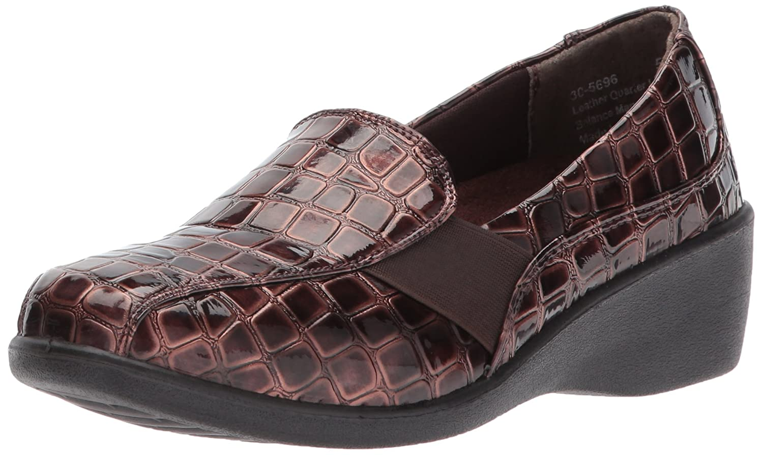 Easy B071J7YLRJ Street Women's Dolores Flat B071J7YLRJ Easy 6 B(M) US|Brown Patent Crocodile c6194f