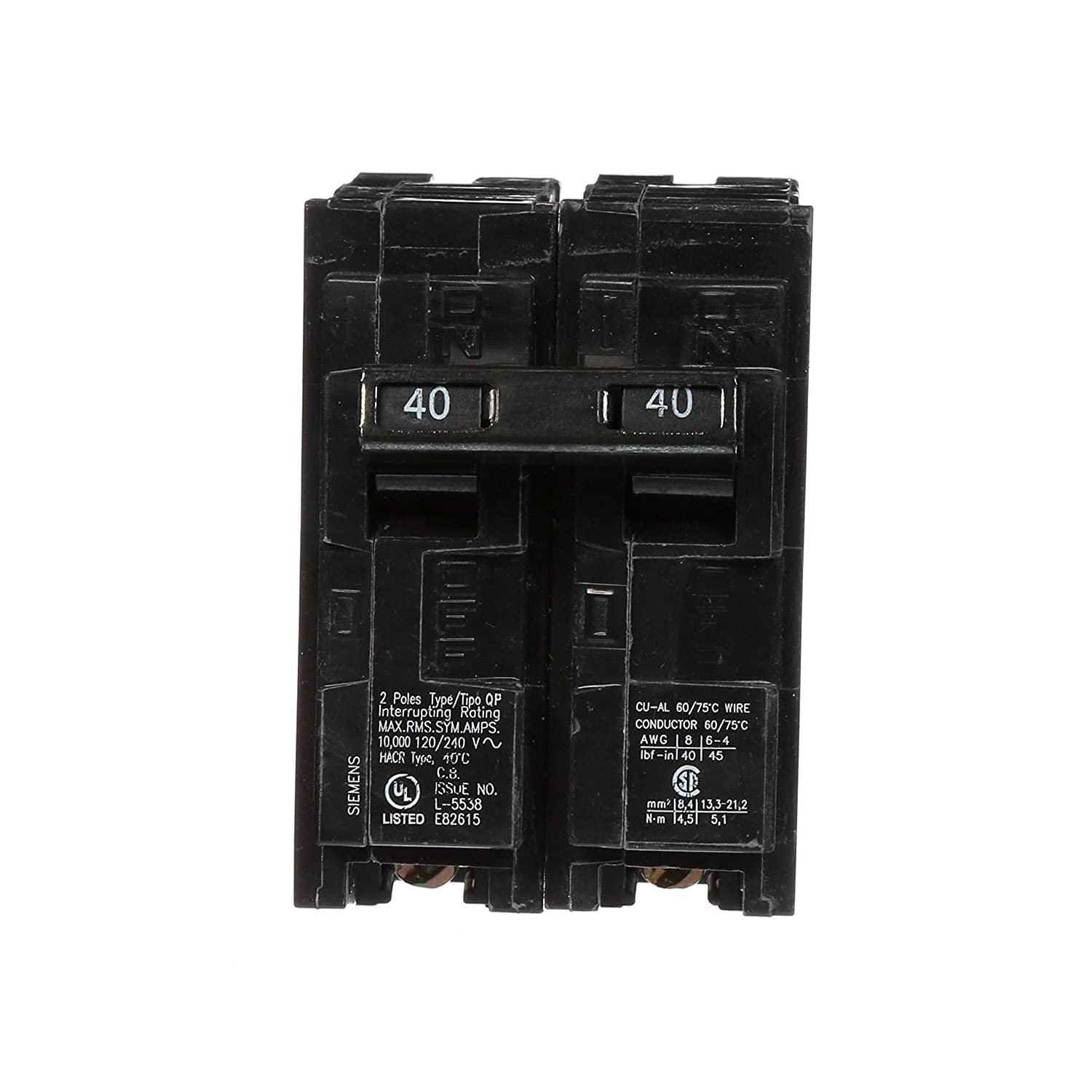 Q240 40 amp double pole type qp circuit breaker amazon greentooth Images