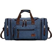 Fresion Große Segeltuch Reisetasche Tote Handtasche Männer Weekender Duffle Bag Daypacks für Frauen & Männer mit 44L