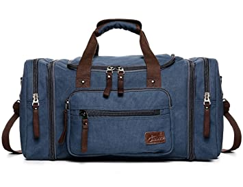 795368cb680c0 Fresion Unisex Canvas Reisetasche Tote Handtasche Männer Weekender  Umhängetasche Freizeittasche Handgepäck für Frauen   Männer mit