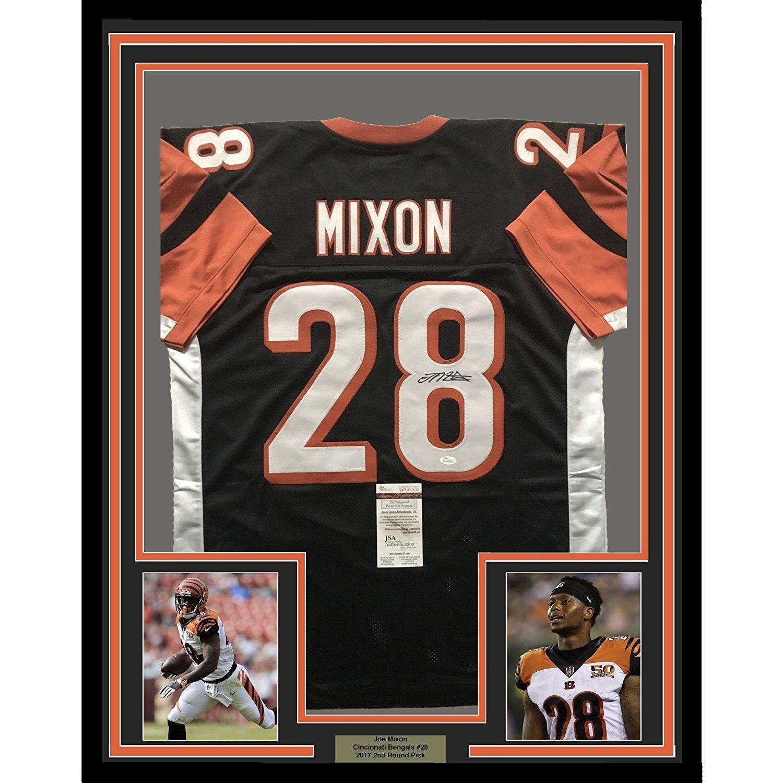 38dc528fbc3 Amazon.com  Autographed Joe Mixon Jersey - FRAMED 33x42 Black COA - JSA  Certified - Autographed NFL Jerseys  Sports Collectibles