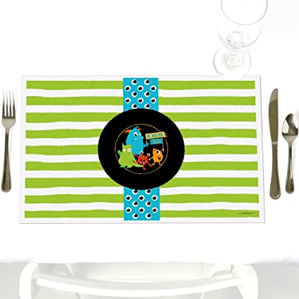 Monster Bash Party Table Decoration Little Monster Birthday Party Or Baby Shower Placemats Set Of 12