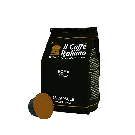 96 cápsulas de café compatibles Nescafé Dolce Gusto - Mezcla Roma - Il Caffè italiano -