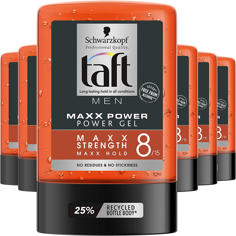 Taft - Gel 8 Maxx Power - Fijación ultra fuerte sin residuos. No pegajoso - 300 ml - Schwarzkopf
