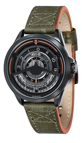 AVI-8 Hawker Harrier ll - Reloj para Hombre, Color Verde Oscuro y Gris: Amazon.es: Relojes