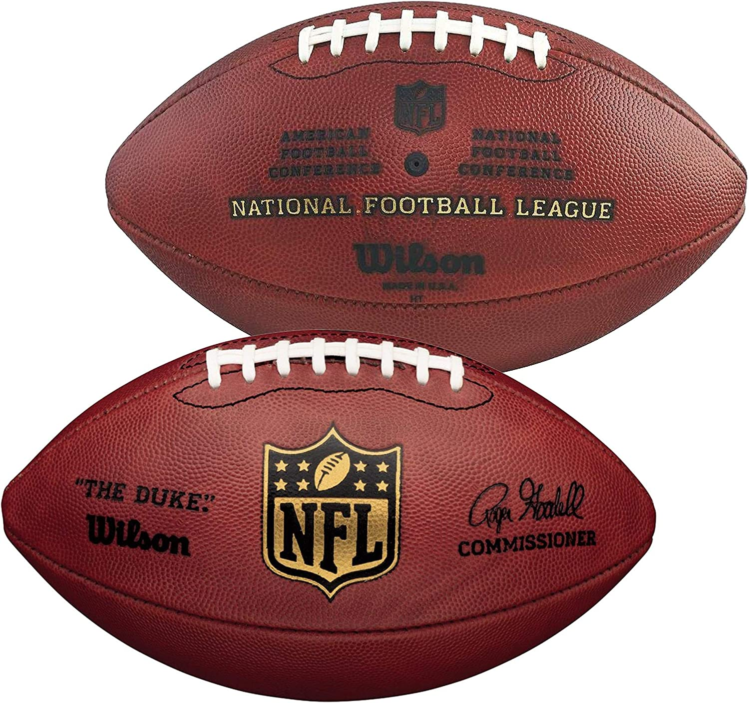 Amazon Com Wilson The Duke Official Nfl Leather Football Nfl Balls Sports Collectibles