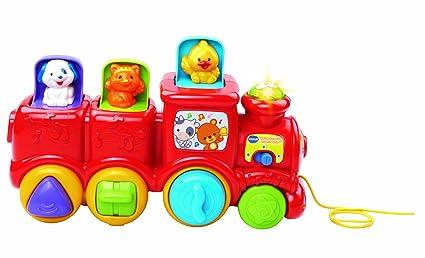f1eeafaace2 Amazon.com  VTech Roll   Surprise Animal Train  Toys   Games