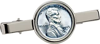 product image for American Coin Treasures 1943 Lincoln Steel Penny Silvertone Coin Tie Clip