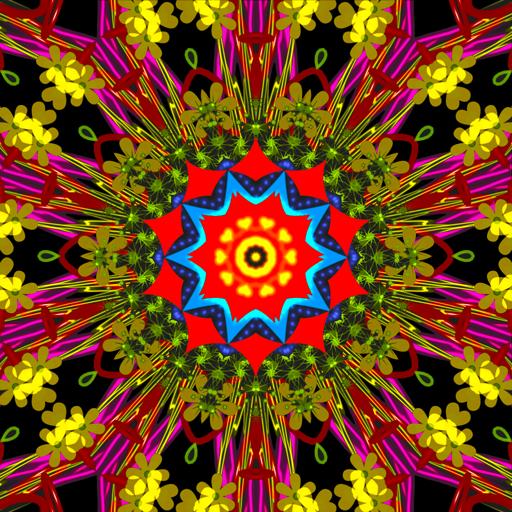 Kaleidoscope Spin Paint Art]()