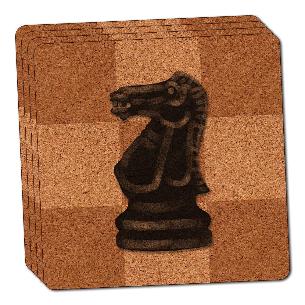 ブラックナイトチェスセットシンコルクコースターセットの4   B00LADVXKC