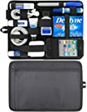 Generic Universal Electronics Accessories Cosmetics Tools Travel Organizer / Hard Drive Case / Cable Organizer Grid Pad with Back Zip Pouch
