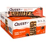 Quest Nutrition Peanut Chocolate Crunch Snack Bar, High Protein, Low Carb, Gluten Free, Keto Friendly, 12-Count