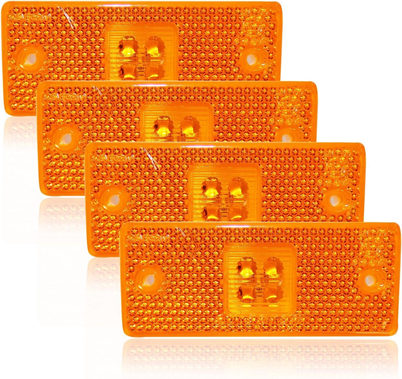 A1 24v Gelb Positionsleuchte 4 X 4 Smd Led Umrißleuchte Begrenzungsleuchte Lkw Pkw Auto