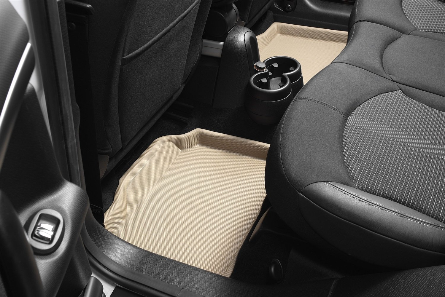 3D MAXpider Second Row Custom Fit All-Weather Floor Mat for Select Jeep Compass Models Black Kagu Rubber