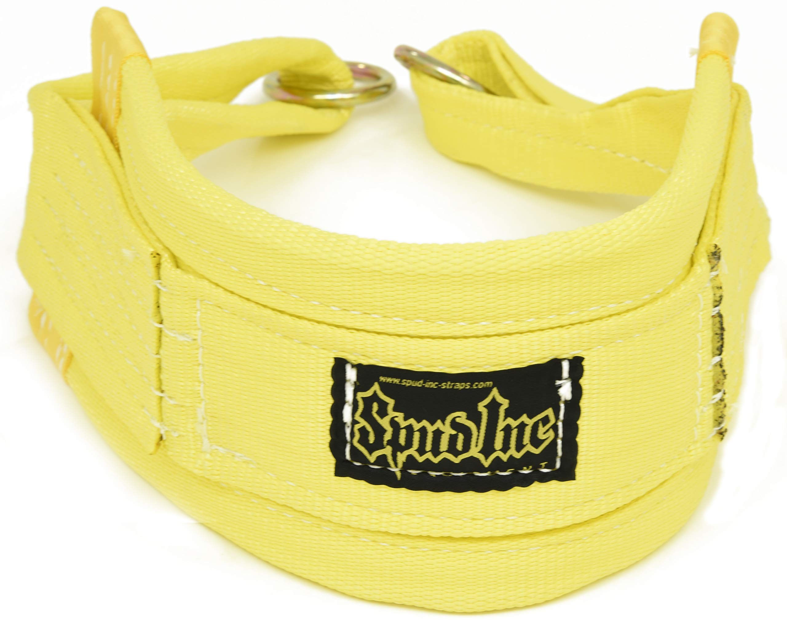 Spud Belt Squat Medium Belt for Weight Lifting Strength Training and Power Lifting (Yellow)