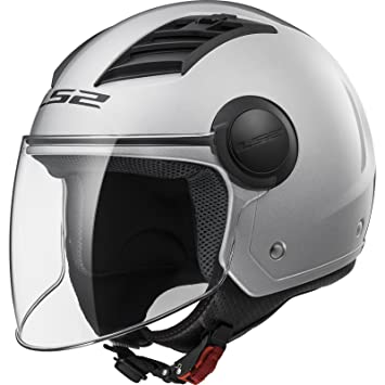 LS2 Of562 Airflow - Casco para moto, Gloss Silver Long, talla L.