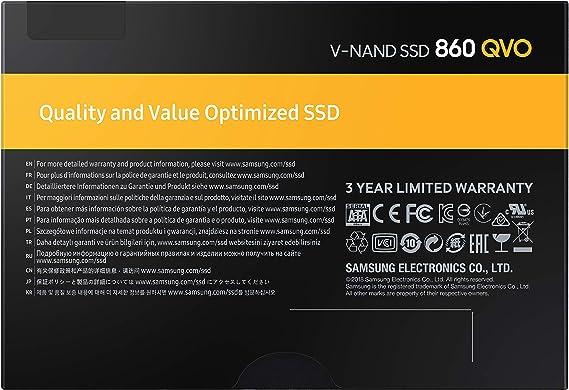 Samsung 860 QVO, Disco Duro, 1, Negro: Samsung: Amazon.es: Informática