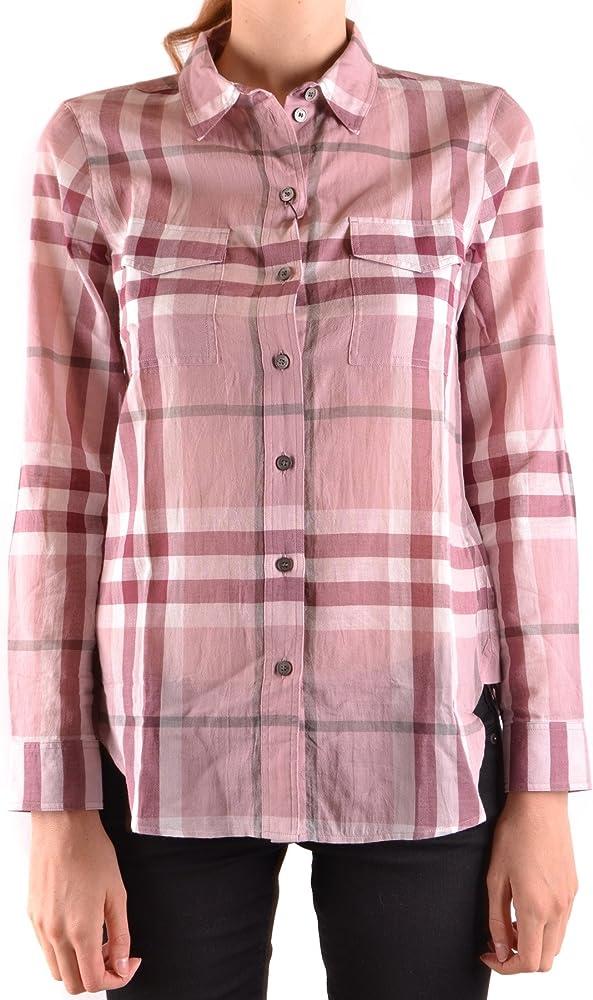 BURBERRY - Camisas - para Mujer Rosa: Amazon.es: Ropa y accesorios