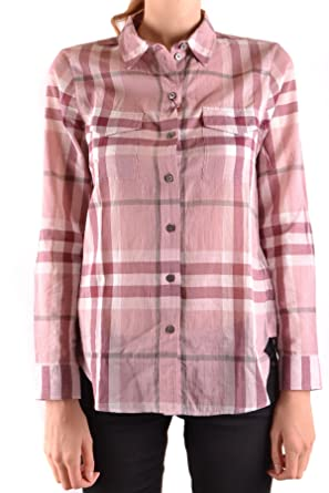Image Unavailable. Image not available for. Colour  BURBERRY Women s  Mcbi056241o Pink Cotton Shirt 83e5f6153e