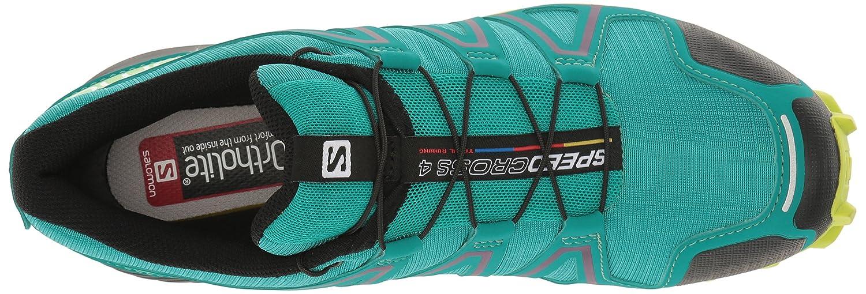 Salomon Women's Speedcross 4 W Trail Runner B01HD2QITE 9.5 B(M) US|Deep Peacock Blue/Lime Punch./Grape Juice
