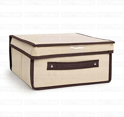 Caja de almacenamiento | Caja para almacenaje plegable | Organizador de ropa | Caja de tela guarda todo | Caja de almacenaje de gran capacidad (28x30): Amazon.es: Hogar