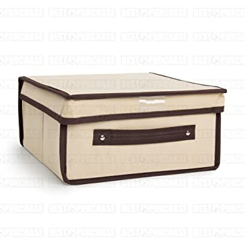 Caja de almacenamiento | Caja para almacenaje plegable | Organizador de ropa | Caja de tela guarda todo | Caja de almacenaje de gran capacidad (28x30): ...