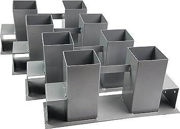 4er Set Kaminholz Stapelhilfe Brennholz Holz Stapelhalter