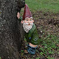 Garden Gnome Ornament, Garden Gnome Statue Peeing Gnome Naughty Resin Decoration, for Home Backyard Lawn Goblin…