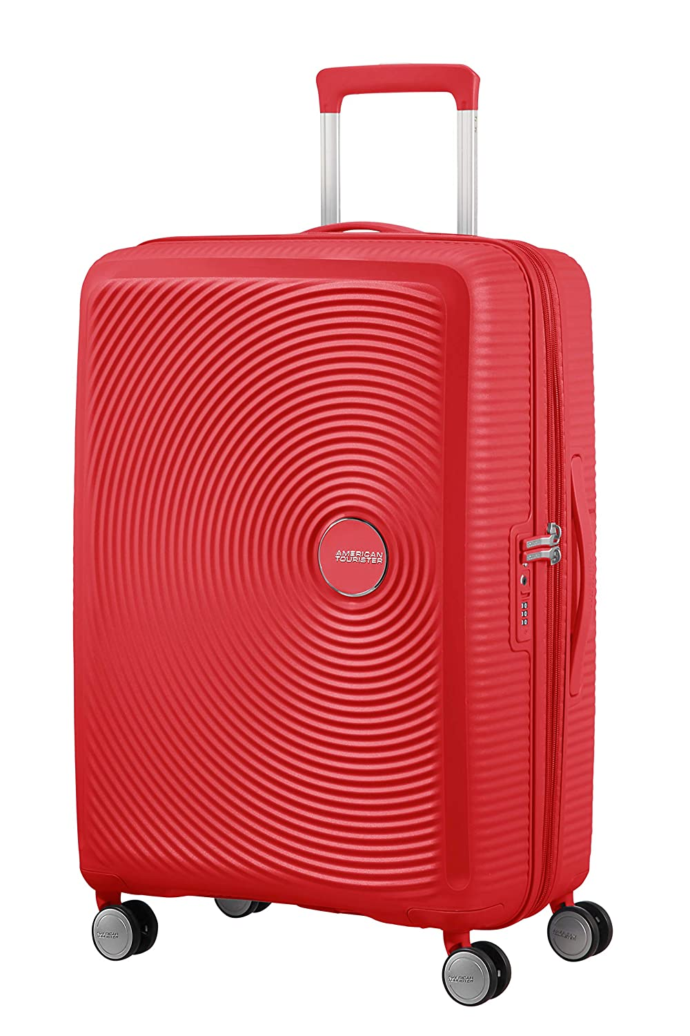 American Tourister Soundbox - Spinner Medium Expandable Maleta, 67 cm, 81 Liters, Rojo (Coral Red)