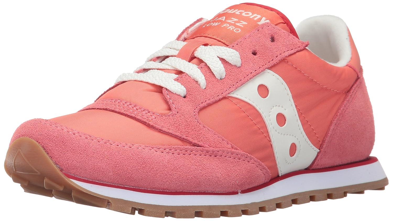 Coral White Saucony Originals Women's Jazz Lowpro Sneakers