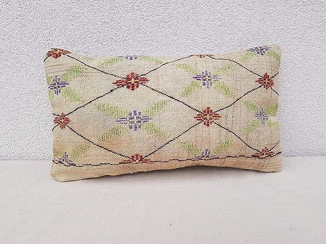 Amazon Com Diamond Pattern Kilim Cushion Wool Bolster