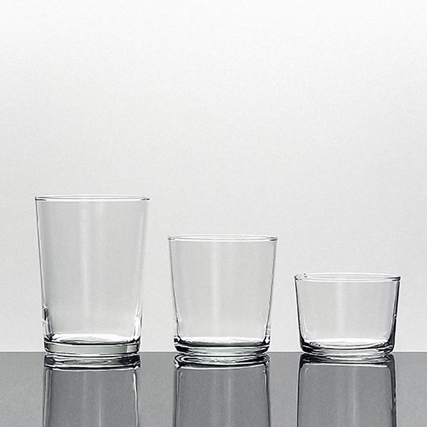 Small Spanish wine tumblers are clear glass and perfect for desserts or yogurt too.