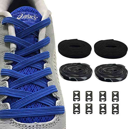 2Pairs No Tie Shoelace Elastic Shoe Strings Sneakers Shoe Laces for Adults