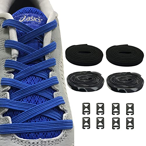 ff1a310017e08 2 Pairs No Tie Shoelaces Elastic Shoe Laces - One Size Fits All Adult and  Kids Shoes