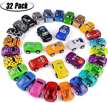 Accessori pacchetto regalo festa giocattoli 12 Mini Tirare Indietro Gara Macchine