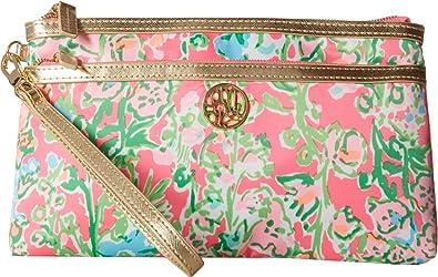 Lilly Pulitzer Womenu0027s Toosie Wristlet Flamingo Pink Southern Charm Handbag