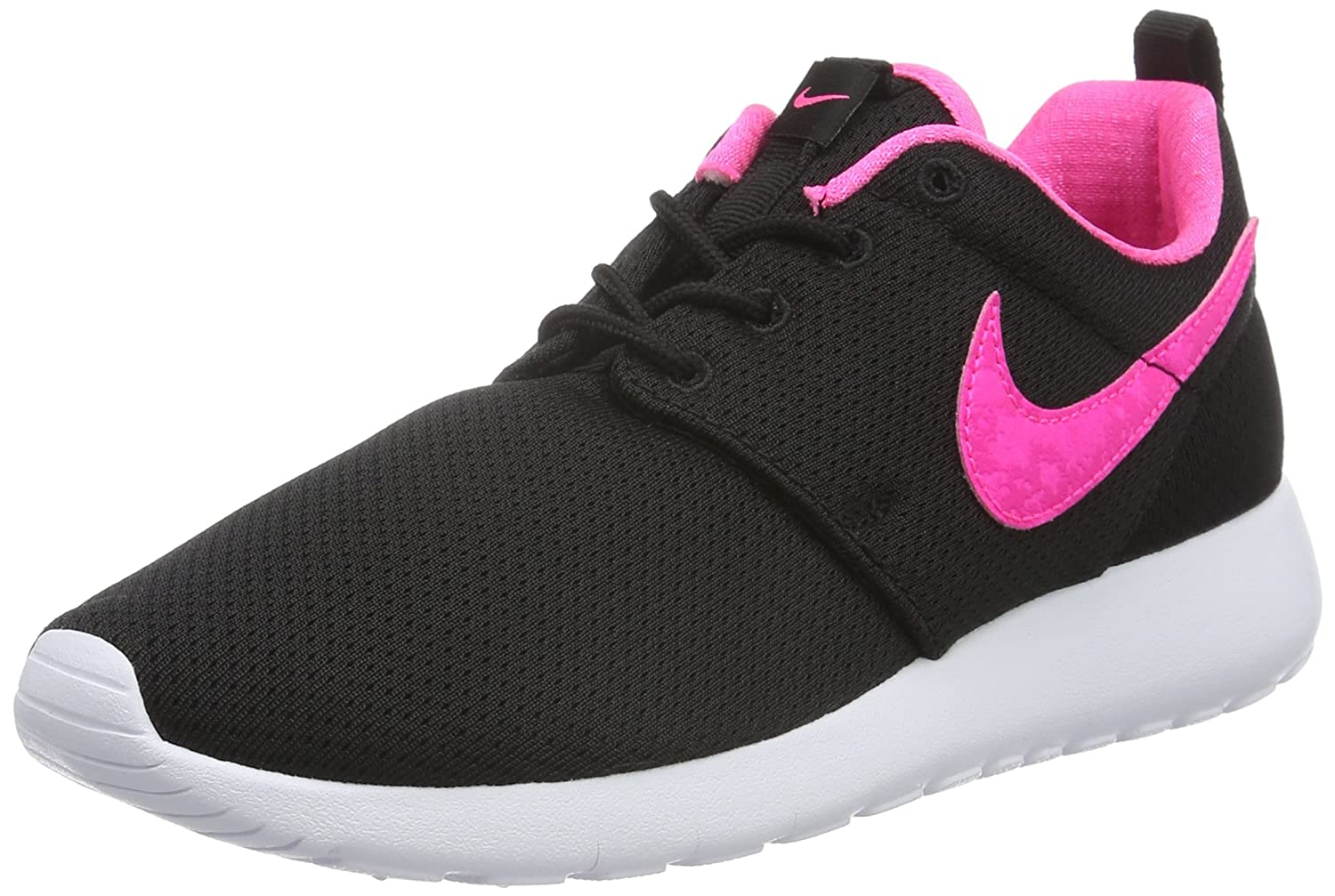 1d633172301e4 Amazon.com | NIKE Roshe One Rosheone GS Sneaker Black/Pink/White | Sneakers