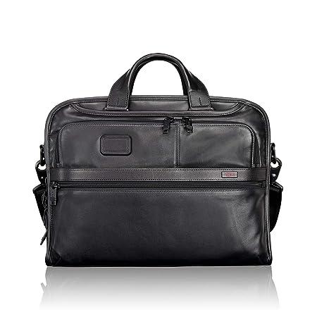 75a3193f8 Tumi Alpha 2 Organizer Portfolio Leather Brief, Black - 096108: Amazon.co.uk:  Luggage