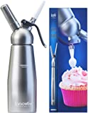 Innovee Cream Whipper - 0.5 Liter Professional Aluminum Whipped Cream Dispenser W/ 3 Decorating Nozzles & Free Desserts Recipes (e-book) - Uses Standard N20 Cartridges (not included)