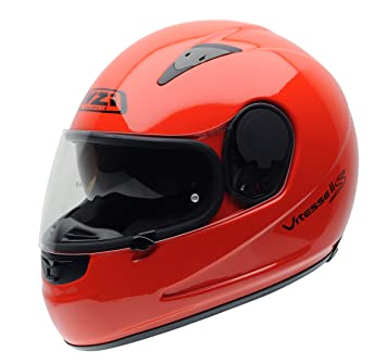 NZI 010232G930M Vitesse II S Duo Casco de Moto, Fluo Rojo, Talla M
