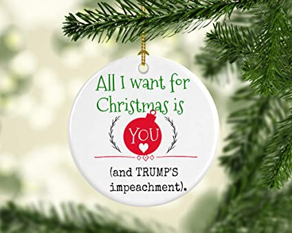 Christmas Trump Funny.Amazon Com Trump Christmas Trump Ornament Impeach Trump