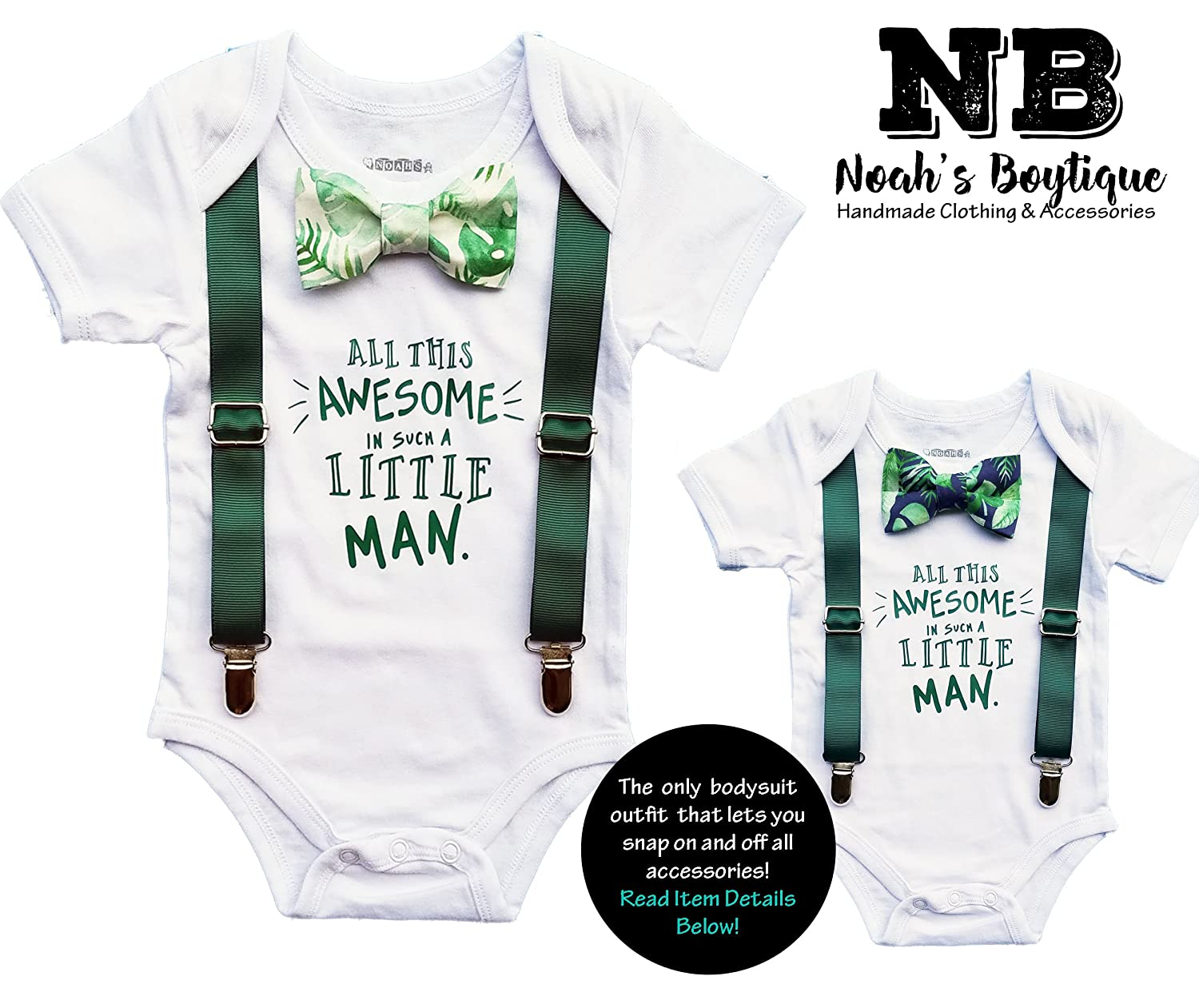 c1c246c1c83d Amazon.com  Noah s Boytique Baby Boy Summer Coming Home From The Hospital Outfit  Baby Gift  Clothing