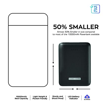 5E Wallet | Most Compact 10000 mAh Power Bank | Slim: Amazon in
