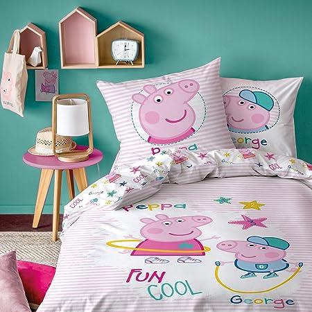 Familando - Juego de cama reversible con dibujos de Peppa Pig y ...